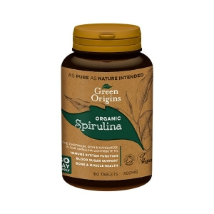 Green Origins Spirulina BIO  (180x500mg) / 180 tabletek