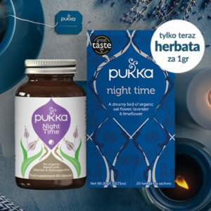 Zestaw Pukka Night Time suplement (60kaps.) & herbata (20 saszetek)