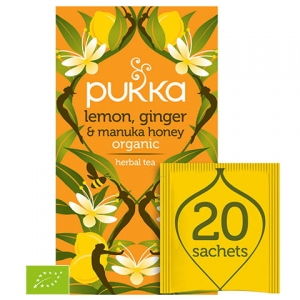 PUKKA Lemon, Ginger & Manuka Honey 20szt