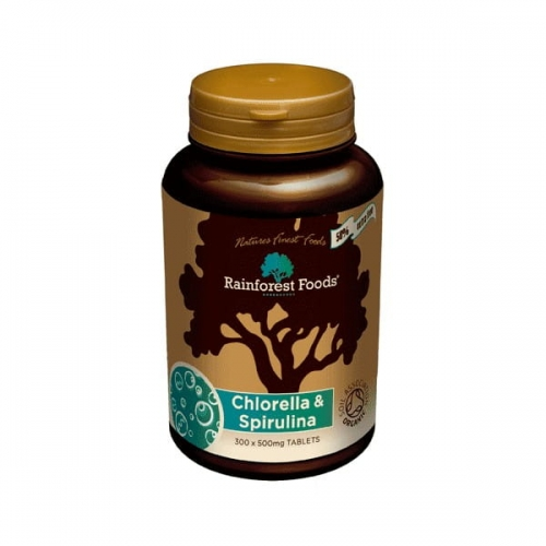 Rainforest Foods Chlorella & Spirulina BIO (300 tabletek x 500 g)